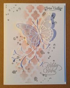 """By Patsy Collins. Sponge through only part of a stencil. (I used """"Lattice"""" by…"""