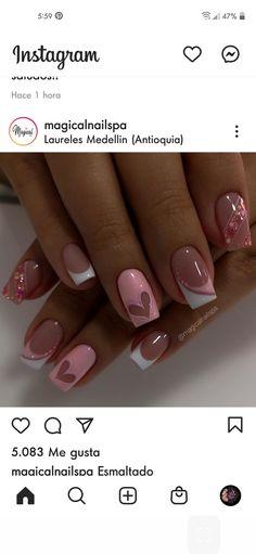 Burgundy Acrylic Nails, Best Acrylic Nails, Valentine's Day Nail Designs, Acrylic Nail Designs, Witch Nails, French Nail Art, Nails 2018, Hot Nails, Perfect Nails