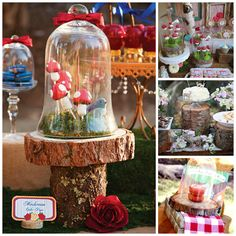 Snow White and the Seven Dwarfs in Woodland Birthday Party // Hostess with the Mostess® Enchanted Forest Party, Fairytale Party, Fairy Birthday Party, Birthday Parties, Le Gui, Snow White Birthday, Disney Princess Party, Woodland Party, Childrens Party