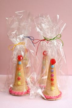 Ice cream Cones filled with candy - a South African children's party staple