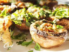 Vajas sajtos sült gomba zöld fűszerekkel recept Salmon Burgers, Ethnic Recipes, Food, Salmon Patties, Eten, Meals, Diet