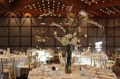 """Katie & Mike celebrated their """"I Do's"""" at the Oak Brook Hyatt Lodge. Chicago wedding DJ Nick created a great atmosphere with lights & music Wedding Table Centerpieces, Table Decorations, Oak Brook, Event Lighting, Light Music, Wedding Dj, Chicago Wedding, Special Events, Table Settings"""