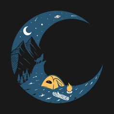 Camping by the campfire in the moonlight - Camping - T-Shirt | TeePublic. Enjoy a break from the real world and go camping. Relax by your campfire, pitch your tent and lie under the stairs and the moon. Perfect gift for camping enthusiast or give a message about stress relief. (ad) Under Stairs, The Real World, Go Camping, Stress Relief, Pitch, Moonlight, Tent, Relax, David