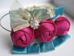 SnazzieDrawers: Fabric Flower Tutorial- Kennedy Rose Couture Flower PDF Pattern