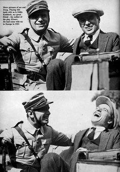 Charlie Chaplin & friend Douglas Fairbanks - 1919