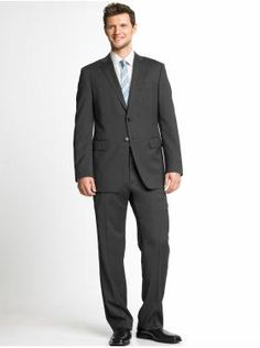 modern italian wool charcoal two-button suit