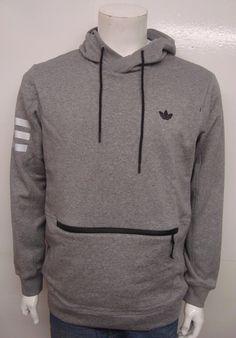 Adidas Originals Men's Sport Luxe Fleece Hoodie Grey S22769 Select Size | eBay