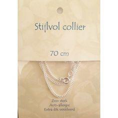 Verzilverd collier 70 cm
