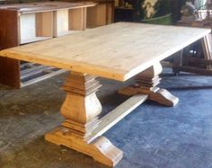 Handcrafted Pedestal Rustic Table by BorboletaDecors on Etsy