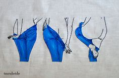 TsuruBride / States of Undress No. 15 Embroidered Wall Hanging
