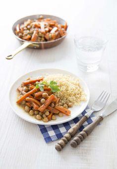 Poêlée de carottes et pois chiches aux épices - Ôdélices : Recettes de cuisine faciles et originales !