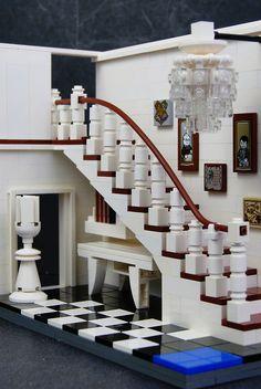 """zaberca's chess-inspired interior: """"Stairway Study"""","""