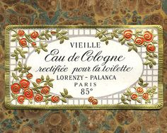 Antique Vintage French Apothecary Perfume Label 16