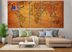 Large wall art world map canvas print large world map wall art large wall art world map canvas print large world map wall art living room panel art canvas print vintage world map political map gumiabroncs Gallery