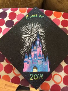 My Disney graduation cap (did I mention it glows in the dark?)