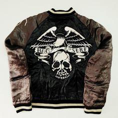 9a484eb72 Vintage Japanese Japan Rockabilly Biker Gangsta Backstreet Crawler  Velveteen Velour Rocker Skull Skeleton Punk Rock Japan Tattoo Art  Embroidery Embroidered ...