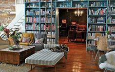 My dream house would be full of shelves to fill with books to fill my head with stories <3