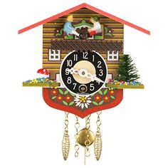 Alexander Taron Importer 129K Black Forest Chalet Clock -- To view further for this item, visit the image link.