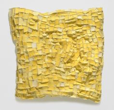 Recollection...yellow (1) 2006 paper, cloth, thread, acrylic paint, marble dust