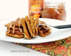 the taste of Fall in this easy, delicious, clean pancake.