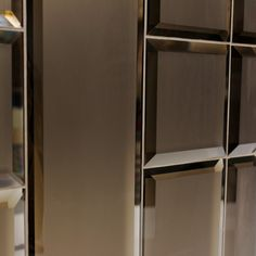 bevelled mirror on the wall Mirror Panel Wall, Mirror Tiles, Wall Tiles, Mirrors, Bronze Mirror, Beveled Mirror, Mirror Glass, Beveled Glass, Townhouse