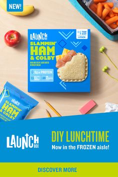 Looking for lunch packin' inspiration? Pop a Slammin' Ham & Colby Jack sandwich in your kids' lunchboxes before school, and it will be thawed by lunchtime. Poppin' with 8 grams of protein, it's just…More Chilli Recipes, Sangria Recipes, Apple Recipes, Pork Recipes, Cooking Recipes, Butter Squash Recipe, Turkey Burger Recipes, Colby Jack, Macaroni Recipes