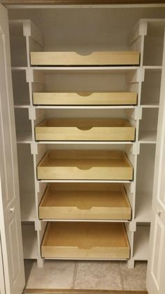 Pantry Pull Out Shelves Closet Pantry Shelving, Closet Design, Pantry Remodel, Kitchen Renovation, Shelves, Home Remodeling, Shelving, Pantry Design, Pull Out Shelves
