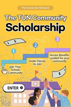 Join the TUN community at your school to enter! $2,000 randomly awarded each month / instant access to millions of dollars in scholarships curated for your community! College Packing, Saving For College, College Hacks, College Club, College Life, Scholarships For College, College Students, College Survival Guide, School Community