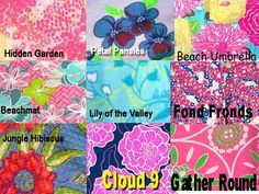 Lilly Pulitzer Line IDs - Floral/ Tree/ Vine Prints