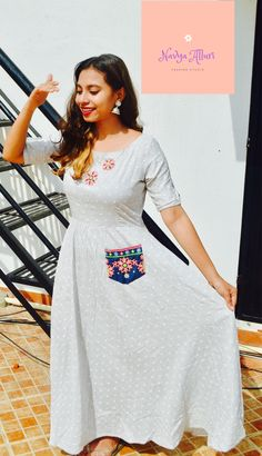 Beautiful Long dress for the casual day,work and even to a party. to buy visit Beautiful Long Dresses, Day Work, Fashion Studio, White Dress, Casual, Party, Stuff To Buy, Parties