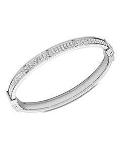 Fossil Bracelet, Silver-Tone Bangle Bracelet