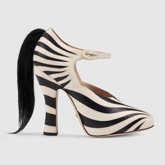Gucci | Zebra leather pump $ 1,290