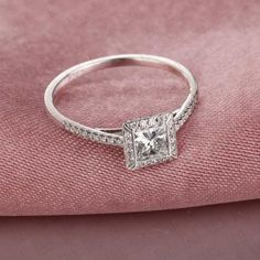 Princess Cut Engagement Rings White Gold 25
