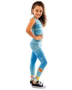 Girls Goldfish Bubbles Active Wear Leggings or Capris Young Girl Models, Little Girl Models, Little Girl Outfits, Child Models, Kids Outfits, Mädchen In Leggings, Girls In Leggings, Girls Fashion Clothes, Girl Fashion