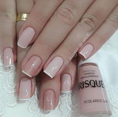 precise nails art design for fall 20 ~ thereds. Nude Nails, Manicure And Pedicure, Hair And Nails, My Nails, Nagellack Trends, Classy Nails, Nagel Gel, Perfect Nails, French Nails
