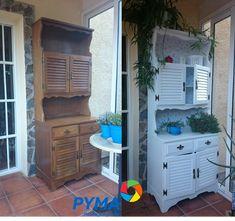 No te pierdas la transformación de este mueble en http://www.pyma.com/general/diy-pintar-con-esmalte-un-mueble-de-madera-sin-lijar/