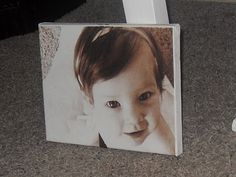 Make your own photo canvas with a printer and tissue paper