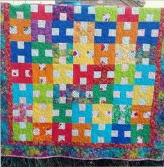 H for Happy Quilt - COR donation quilt? 54 x 60 with 2 borders
