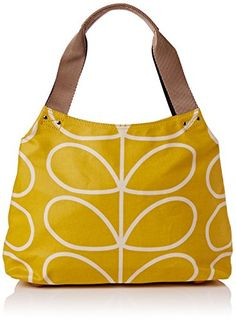 Women's Shoulder Bags - Orla Kiely Giant Linear Stem Classic Zip Shoulder Bag Dandelion One Size ** You can get more details by clicking on the image.