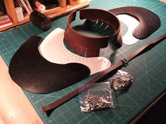Joe Blades lives his version of a Canadian artist's life with at least one twist . Leather Armor, Leather Hats, Sewing Leather, Shoulder Armor, Shoulder Pads, Medieval Clothing, Historical Clothing, Larp Armor, Medieval Armor