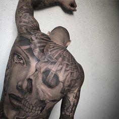 Skull & Portrait