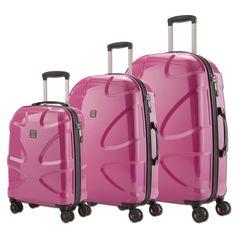 #Kofferset TITAN X2 bei Koffermarkt: ✓Farbe: hot #pink  ✓4 Rollen ✓Polycarbonat-Hartschalenkoffer ✓3-teilig ✓klein, mittel und groß