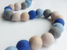 Blue Nursery Garland / Blue Ombre Garland / String of Pom Poms Pom Pom Garland, Pom Poms, Birthday Decorations, Baby Shower Decorations, Artisan & Artist, Felt Gifts, Felt Ball, Blue Ombre, Art Market