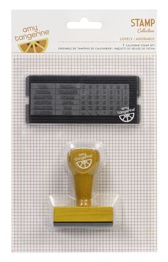 American Crafts - Amy Tangerine Collection - Yes, Please - Calendar Stamp Set - Lovely at Scrapbook.com $18.99