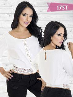 Blusa Moda Colombiana Tabbachi Blanca - Ref. 236 -175 Blanco