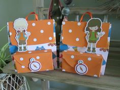 Camping Themed Backpack Favor Box Set of 10 by zbrown5 on Etsy