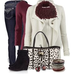A fashion look from December 2012 featuring AllSaints cardigans, H&M tops and Miss Me jeans. Browse and shop related looks.