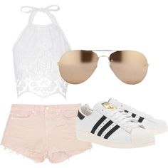 Untitled #17 by sophia-solzbacher on Polyvore featuring polyvore fashion style Miguelina J Brand adidas Originals Linda Farrow
