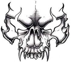 Easy to draw skulls evil skull drawings tattoo art tattoos skull Evil Skull Tattoo, Skull Tattoo Design, Tattoo Design Drawings, Skull Tattoos, Body Art Tattoos, Skull Design, Evil Tattoos, Crow Tattoos, Tattoo Art