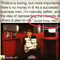 Wow... his views haven't changed.... don the con